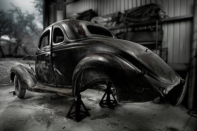 36 Ford Coupe Rear Poster by Yo Pedro