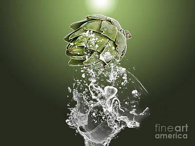 Artichoke Splash Poster by Marvin Blaine