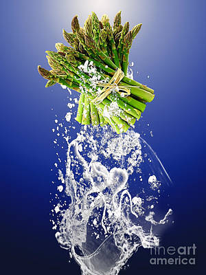 Asparagus Splash Poster by Marvin Blaine