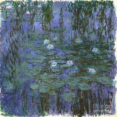 Blue Water Lilies Poster by Claude Monet