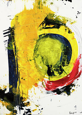 Bright Bold Abstract Painting Negative Space Poster by Michel Keck