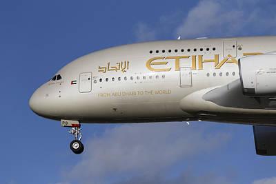 Etihad Airlines Airbus A380 Poster by David Pyatt