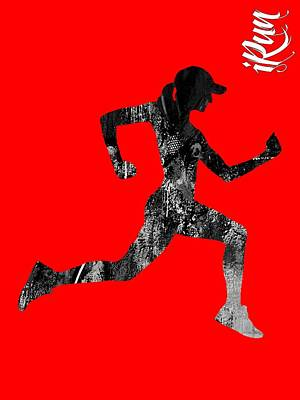 iRun Fitness Collection Poster by Marvin Blaine