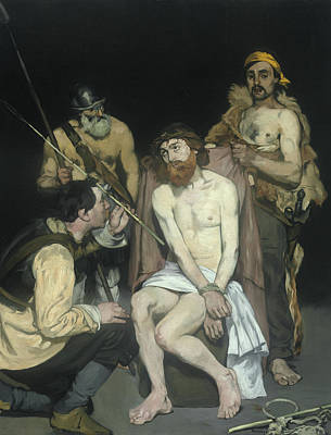 Jesus Mocked By The Soldiers Poster by Edouard Manet