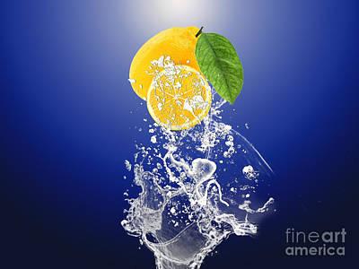 Lemon Splast Poster by Marvin Blaine