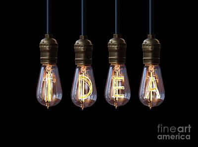 Light Bulb Background Poster by Setsiri Silapasuwanchai