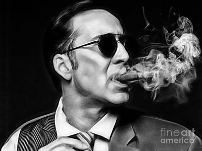 Nicolas Cage Collection Poster by Marvin Blaine