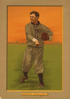 Old Baseball Card Poster by FL collection