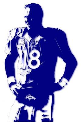 Peyton Manning Broncos Poster by Joe Hamilton