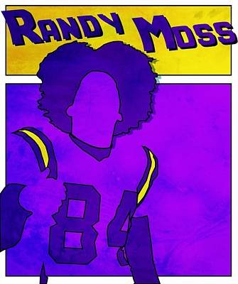 Randy Moss Poster by Kyle West