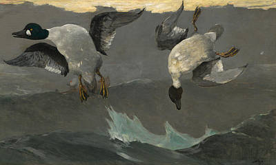 Right And Left Poster by Winslow Homer
