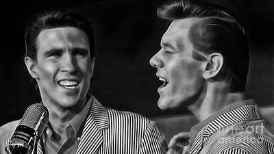 Righteous Brothers Collection Poster by Marvin Blaine