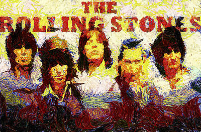 Rolling Stones Poster by Riccardo Zullian