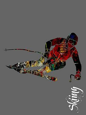 Skiing Collection Poster by Marvin Blaine