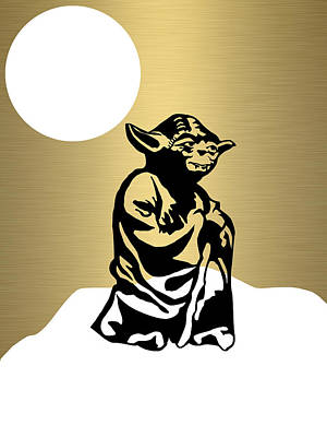 Star Wars Yoda Collection Poster by Marvin Blaine