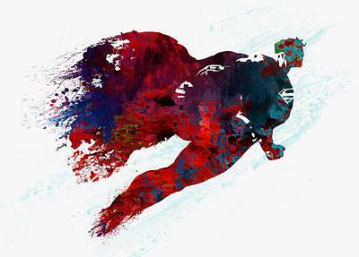 Superman Poster by Elena Kosvincheva