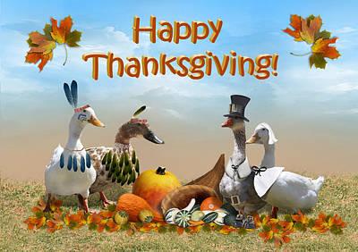 Thanksgiving Ducks Poster by Gravityx9 Designs