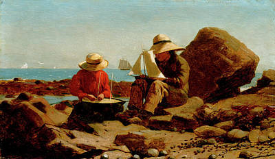 The Boat Builders  Poster by Winslow Homer