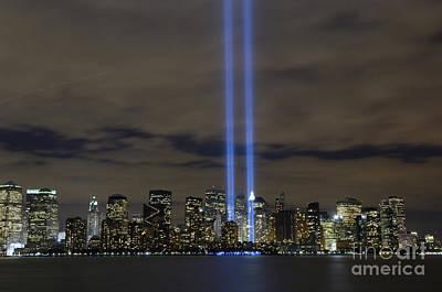 The Tribute In Light Memorial Poster by Stocktrek Images
