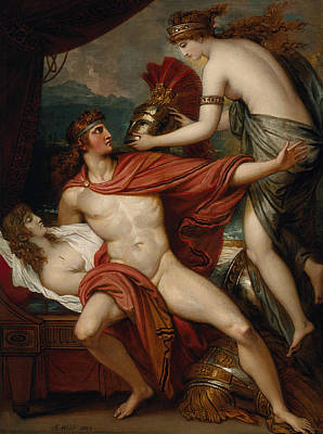 Thetis Bringing The Armor To Achilles Poster by Benjamin West