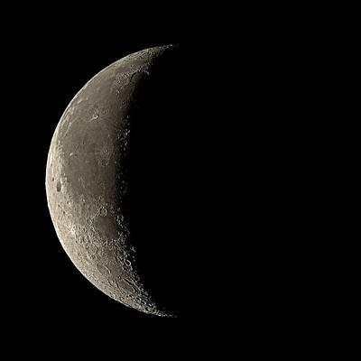 Waning Crescent Moon Poster by Eckhard Slawik