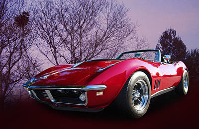 468 Vette Poster by Bill Dutting