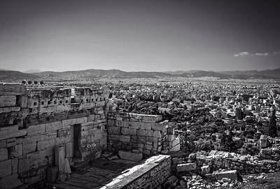 A View Of Athens From The Acropolis  Poster by Mountain Dreams