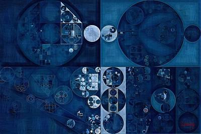 Abstract Painting - Dark Pastel Blue Poster by Vitaliy Gladkiy