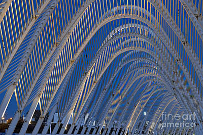 Archway In Olympic Stadium In Athens Poster by George Atsametakis