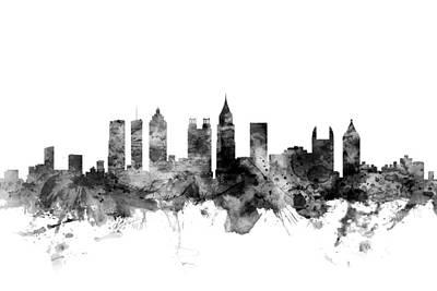 Atlanta Georgia Skyline Poster by Michael Tompsett