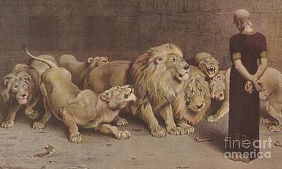 Daniel In The Lions Den Poster by Briton Riviere