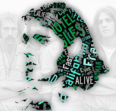 Glenn Frey Eagles Collection Poster by Marvin Blaine