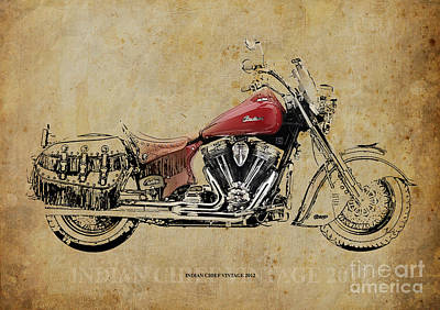 Indian Chief Vintage 2012 Poster by Pablo Franchi