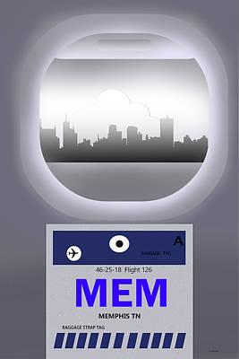 Memphis Tennessee Skyline Poster by Marlene Watson