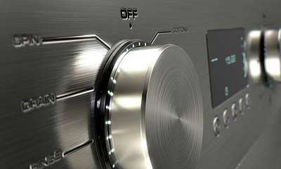 Modern Washing Machine Closeups Poster by Allan Swart