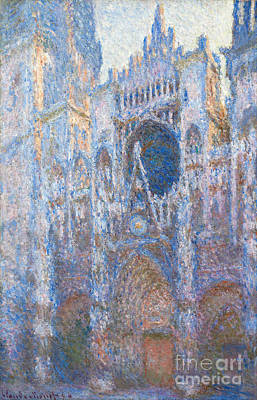 Rouen Cathedral - West Facade Poster by Claude Monet