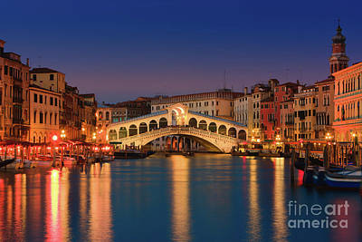 Sunset In Venice Poster by Henk Meijer Photography