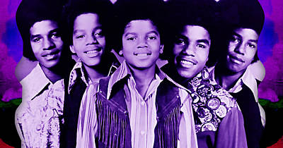 The Jackson 5 Collection Poster by Marvin Blaine