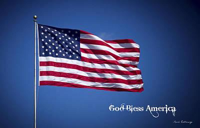 50 Stars Thirteen Stripes American Flag  God Bless America Poster by Reid Callaway