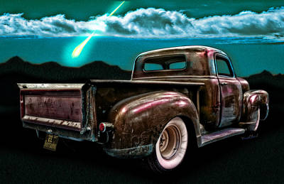 52 Rat Truck El Borracho And The Midnight Wish Poster by Chas Sinklier