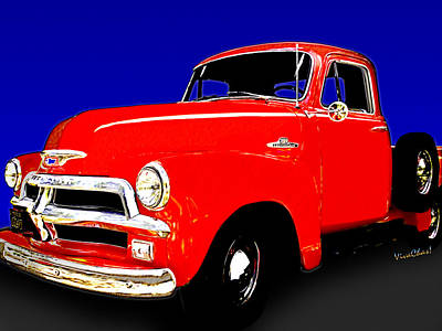 54 Chevy Pickup Acme Of An Age Poster by Chas Sinklier