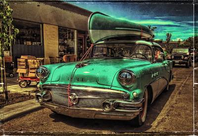 57 Buick - Just Coolin' It Poster by Thom Zehrfeld