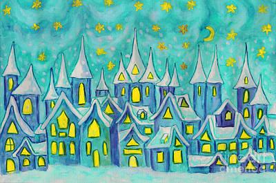 Dreamstown, Painting Poster by Irina Afonskaya