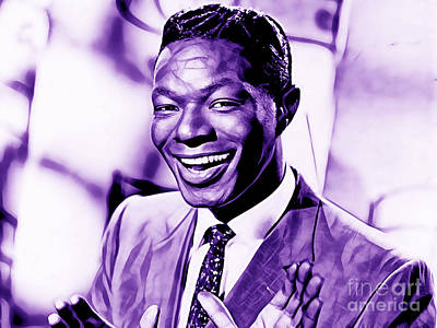 Nat King Cole Collection Poster by Marvin Blaine