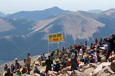 Pikes Peak Marathon And Ascent Poster by Steve Krull