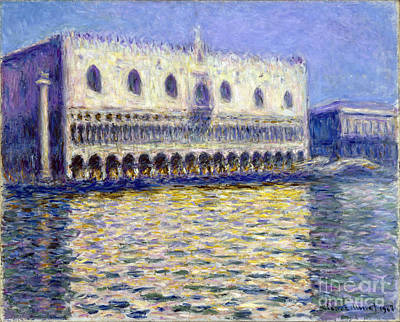 The Doges Palace Poster by Claude Monet