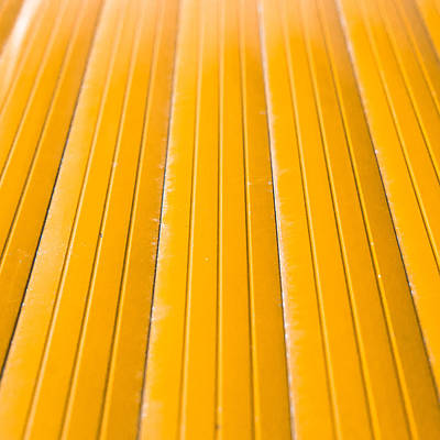 Yellow Metal Poster by Tom Gowanlock