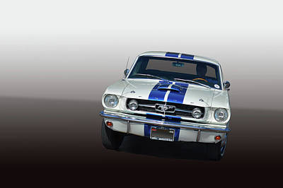 65 Mustang Poster by Bill Dutting