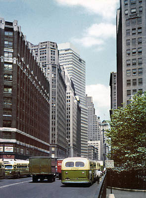 6th Avenue New York 1950 Poster by Marilyn Hunt