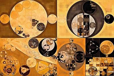Abstract Painting - Zinnwaldite Brown Poster by Vitaliy Gladkiy